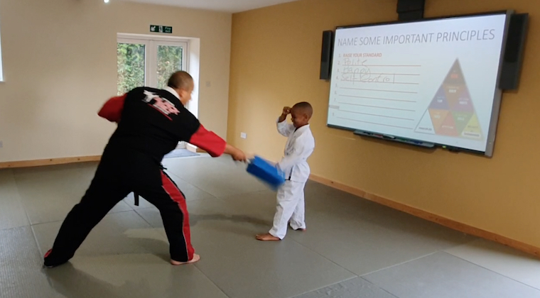 3 AND 4 YEAR OLD doing karate at kicx gloucester