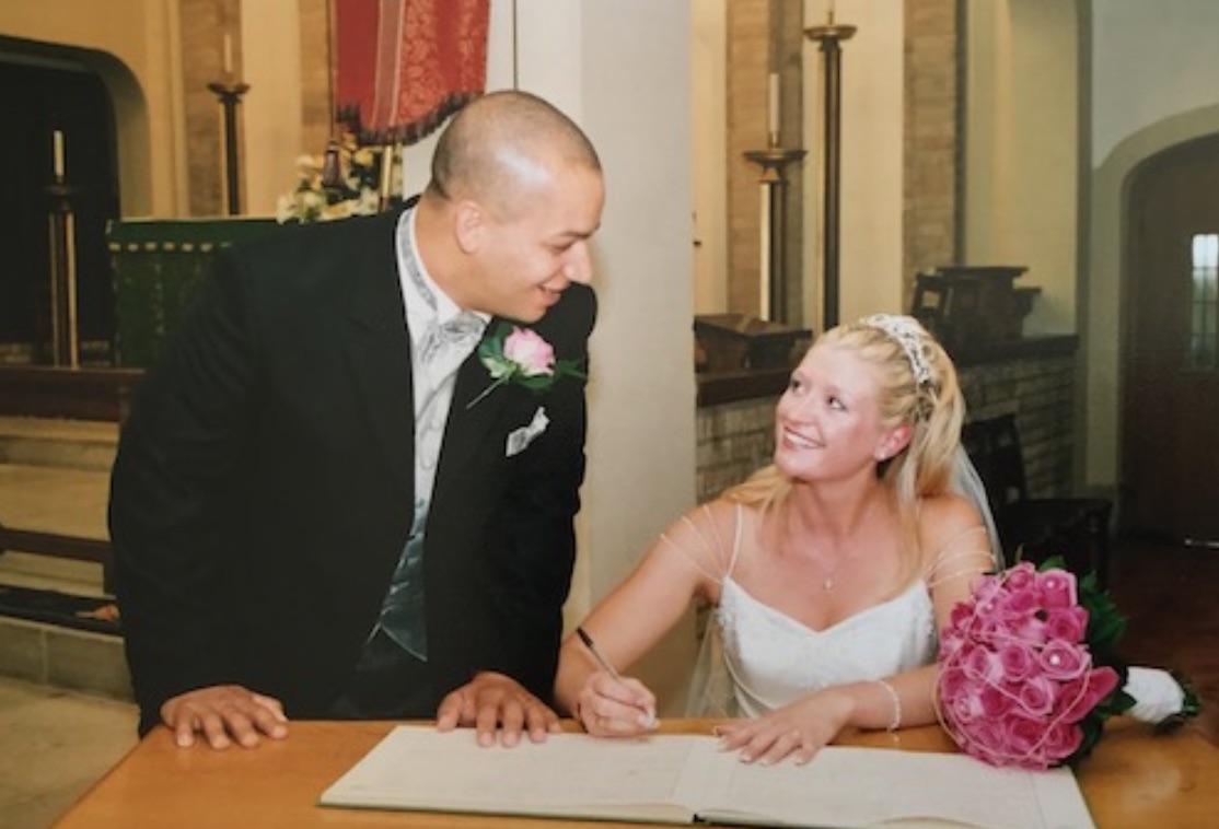 Karen and Stephen Thompson married