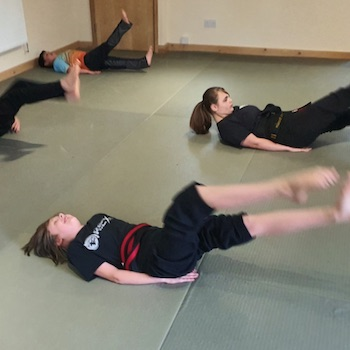 Kickboxing teenagers at kicx martial arts