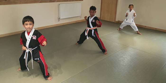Karate Kids in Gloucester Churchdown