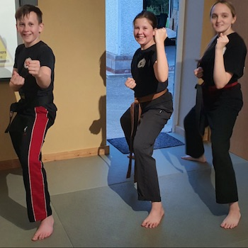 Teenagers in Karate Gloucester Kicx