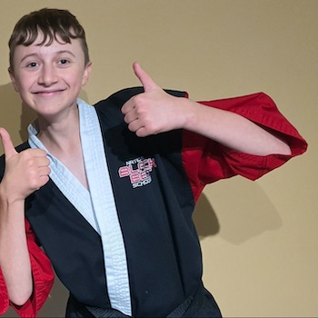 Teenagers in martial arts gloucester kicx