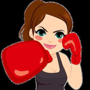 Woman punching cartoon gloucester kicx